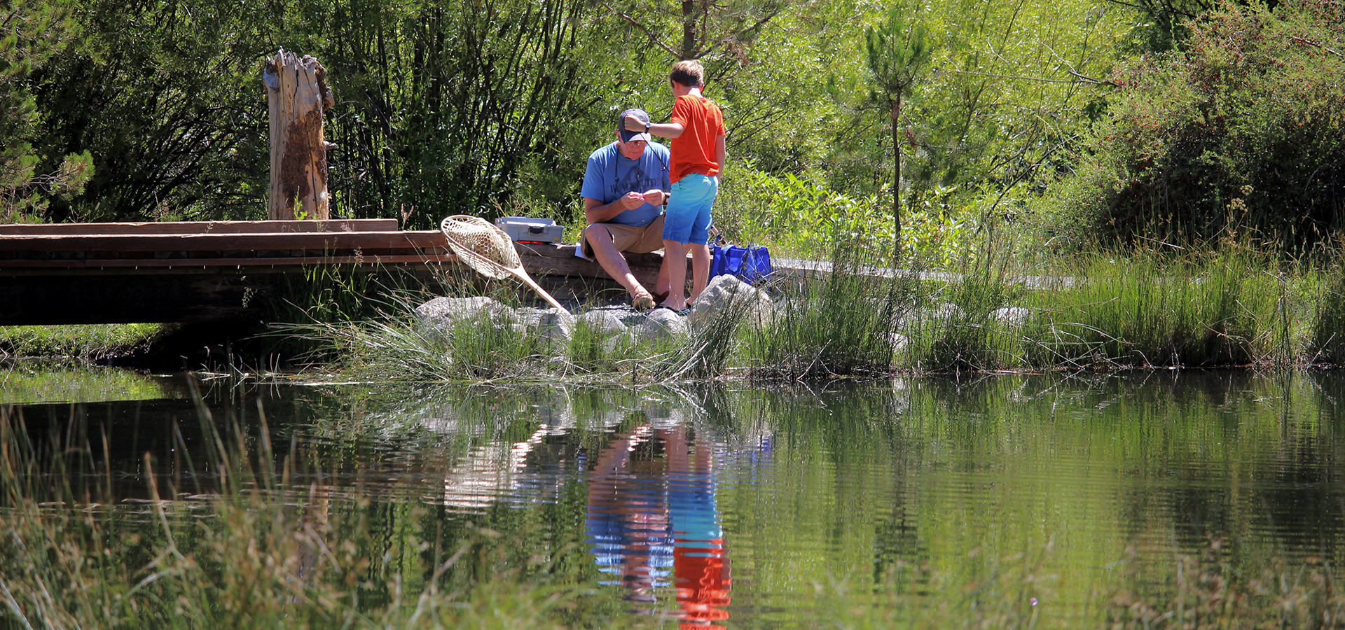Shevlin-Park-Youth-Fishing-in-Bend