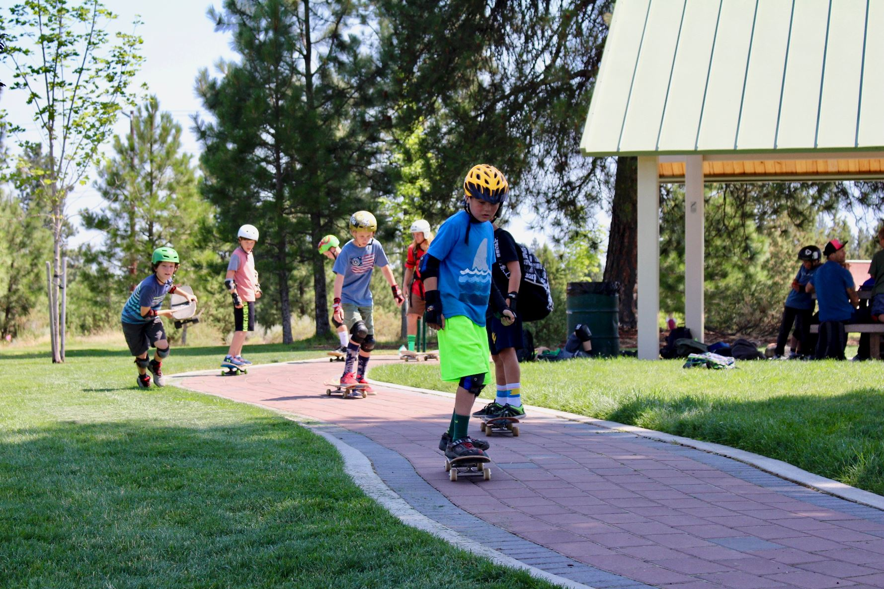 Skateboarding at Juniper Park in Bend Oregon