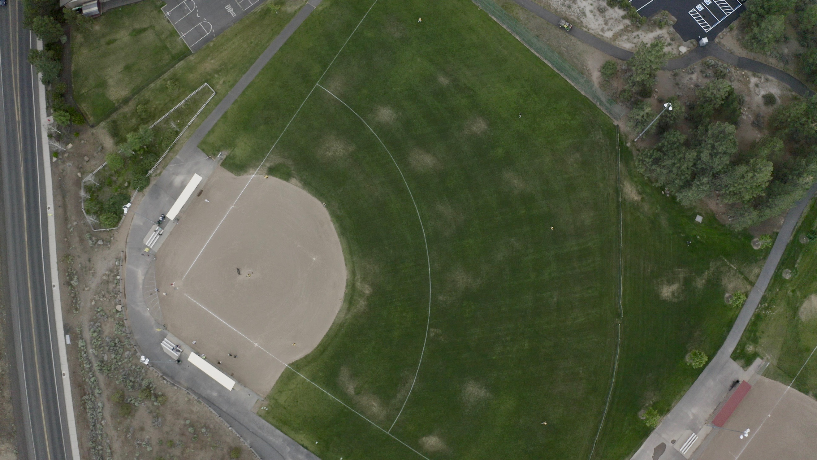 Aerial image of Skyline Sports Complex.