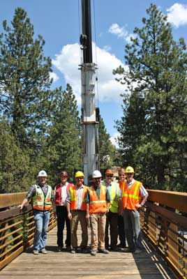 BPRD construction crew on bridge project