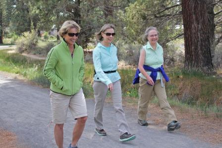 Ladies walking on a trail