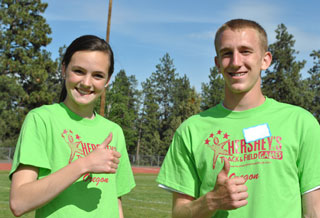 youth volunteers help at Hershey Track & Field Games