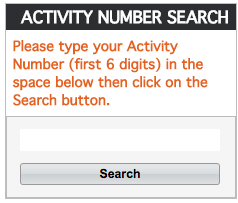 RecTrac-ActivityNumberSearch