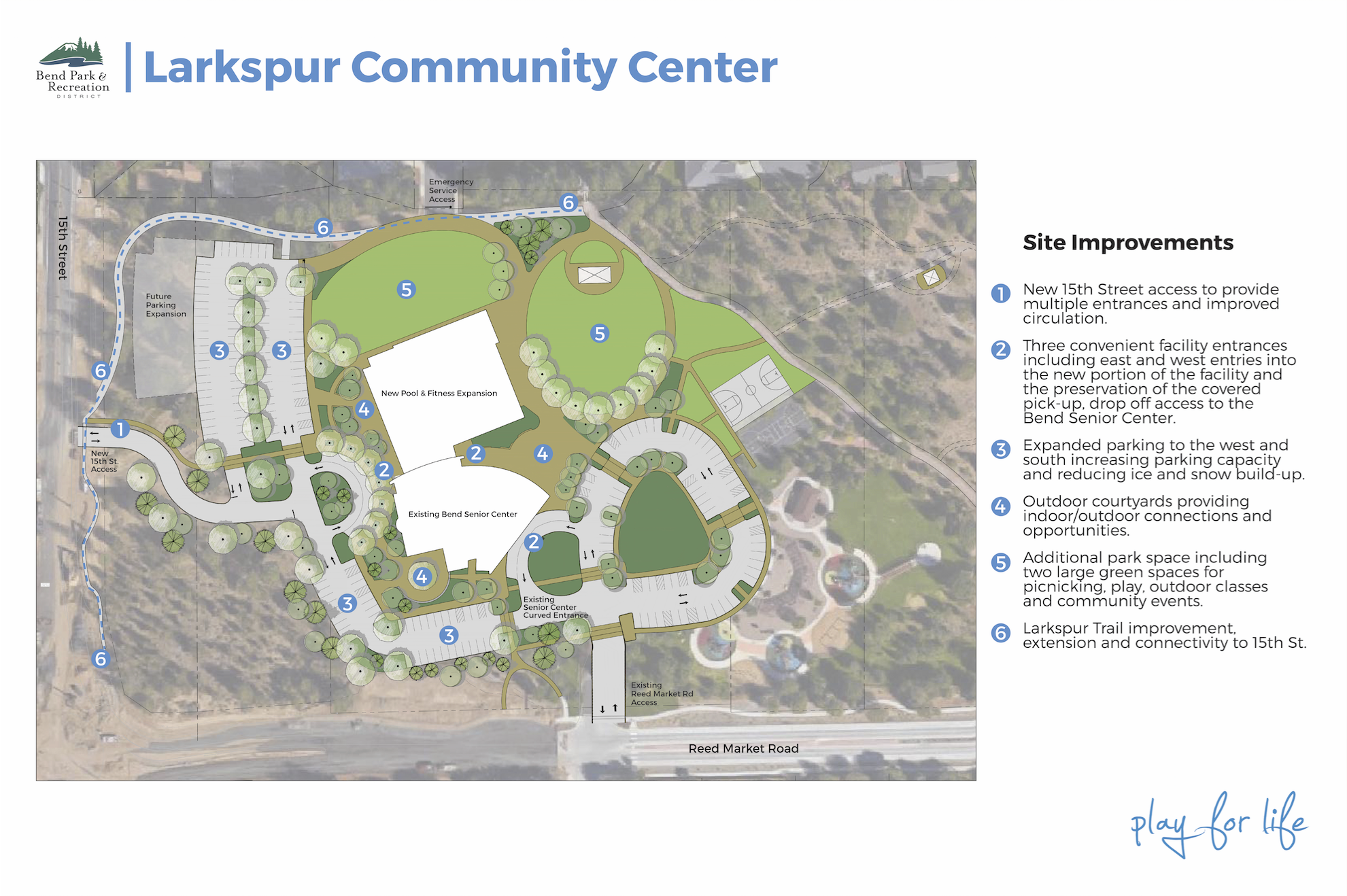 Larkspur Community Center Concept Site Plan