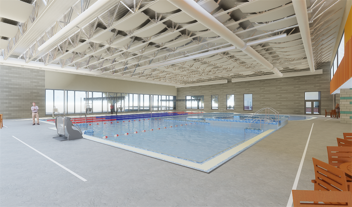 Concept image of the pool at the Larkspur Community Center expansion at the Bend Senior Center.