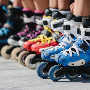 row of inline skates