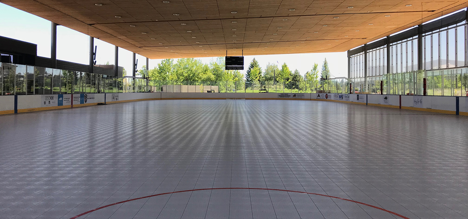 Roller skating surface at The Pavilion