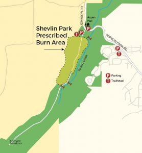 Shevlin Park Prescribed Burn Project Map