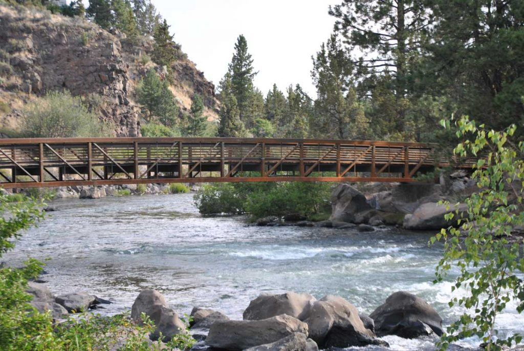 Deschutes River Trail - South UGB - foot bridge example of First Streets Rapids Bridge