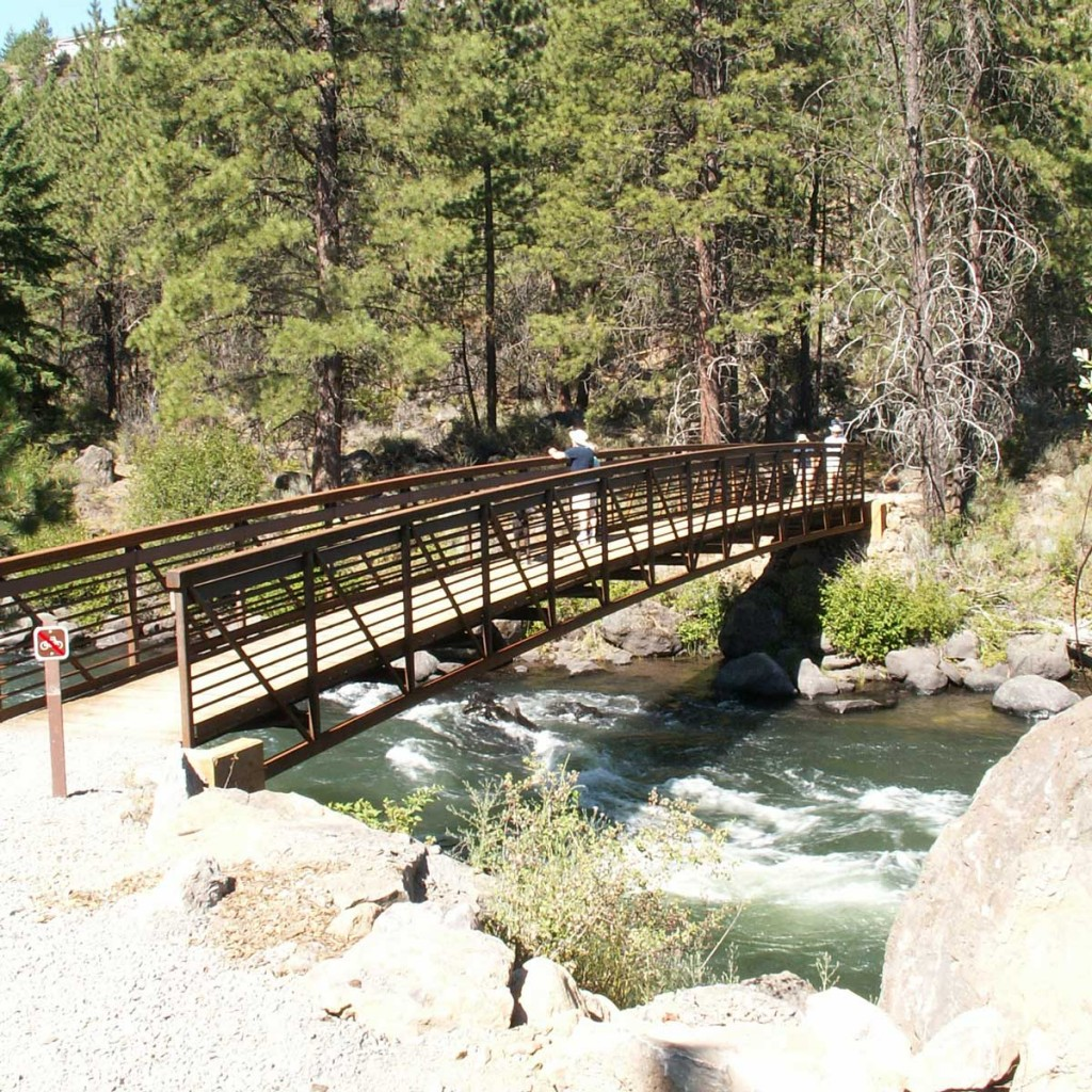 Deschutes River Trail - South UGB - foot bridge example of South Canyon