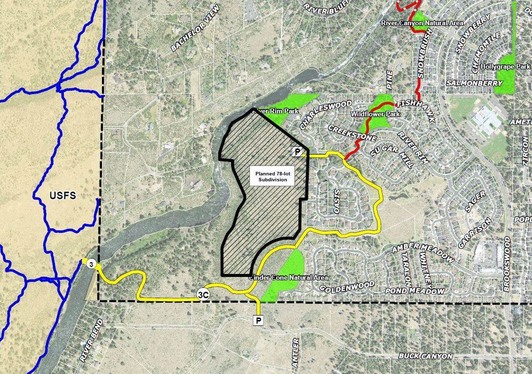 Deschutes River Trail - South UGB Area Map