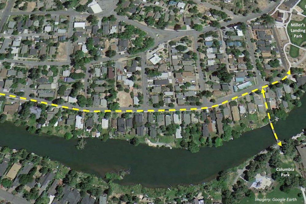 Deschutes River Trail - Galveston to Miller's Landing Map