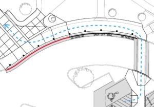 Image showing ADA Access Route to the north entrance for Juniper Swim and Fitness Center.
