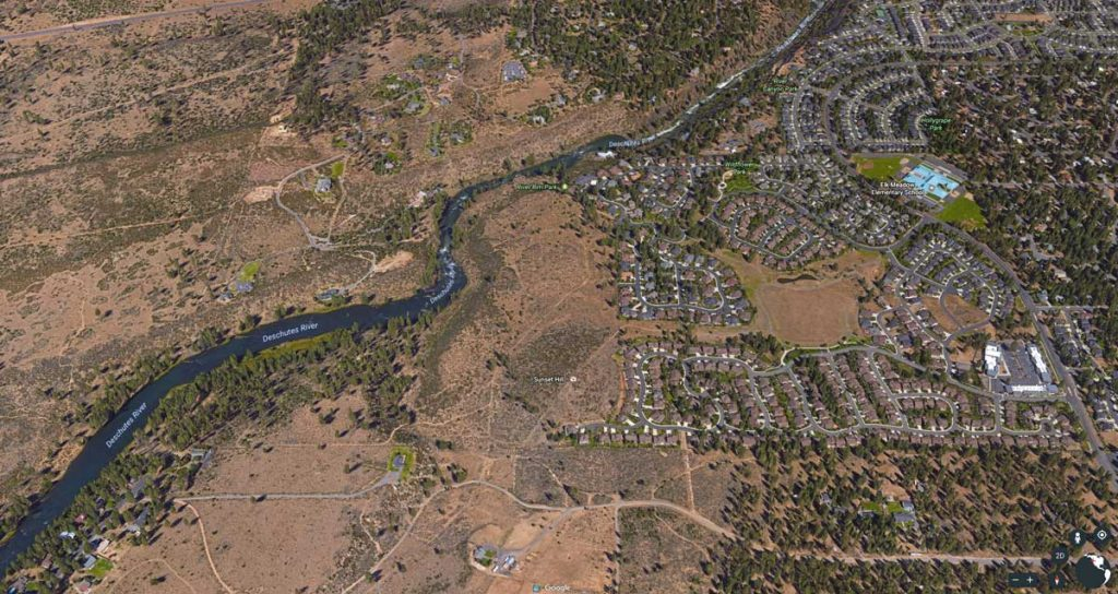 Deschutes River Trail - South UGB Aerial Image
