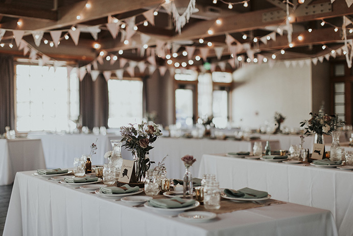Aspen Hall - indoor wedding reception 2