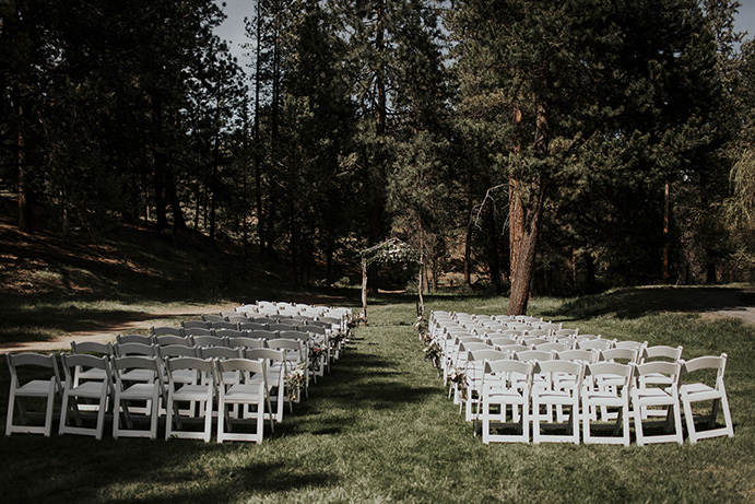 Aspen Hall - outdoor wedding ceremony 1