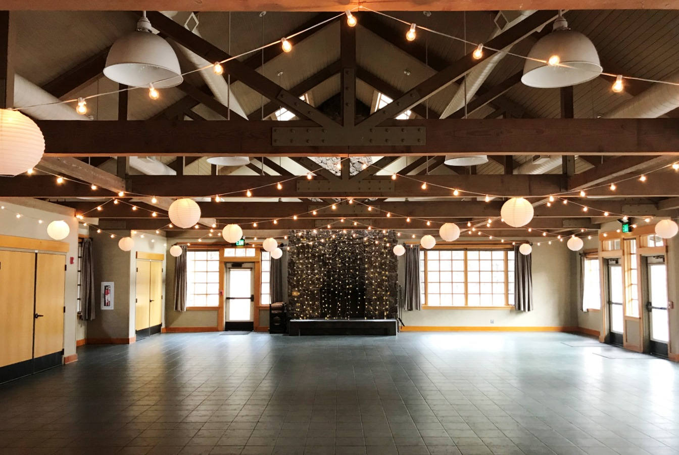 Aspen Hall - indoor string lights