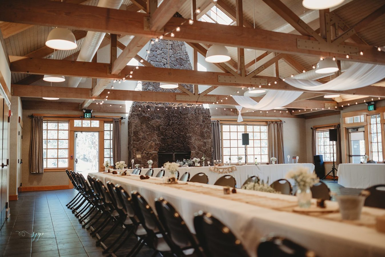 Aspen Hall - indoor wedding reception