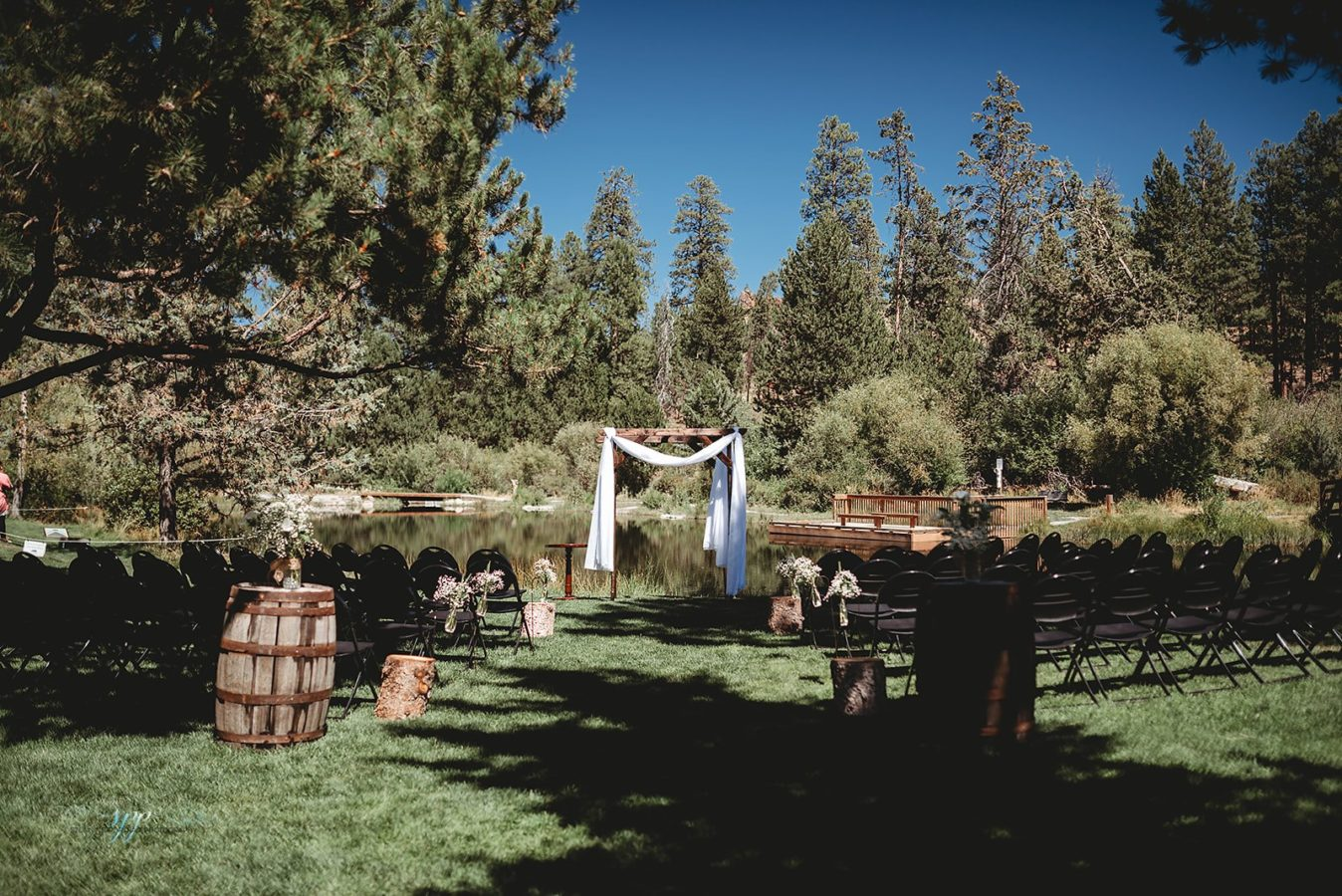 Aspen Hall - outdoor wedding ceremony 3