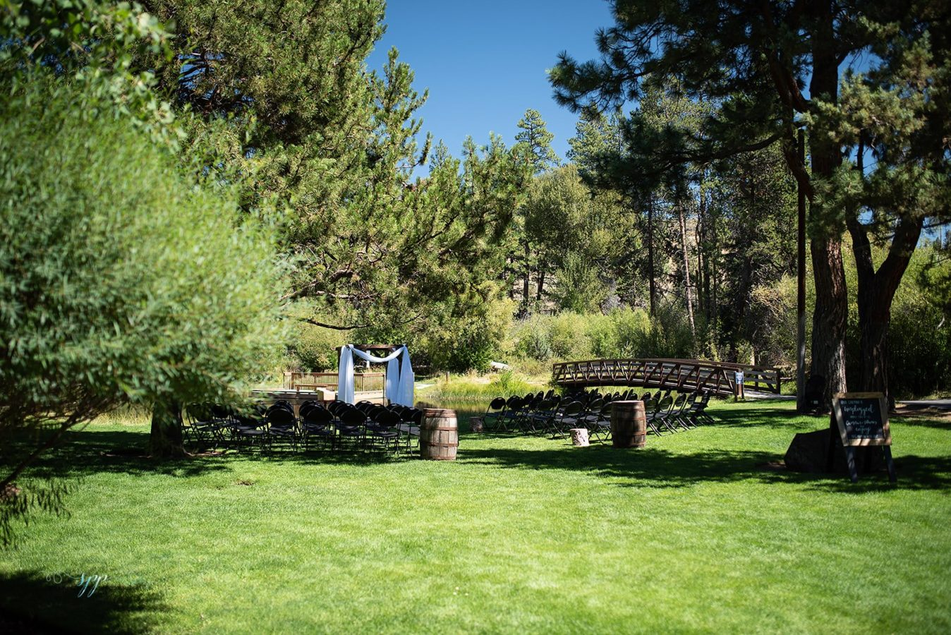 Aspen Hall - outdoor wedding ceremony 2