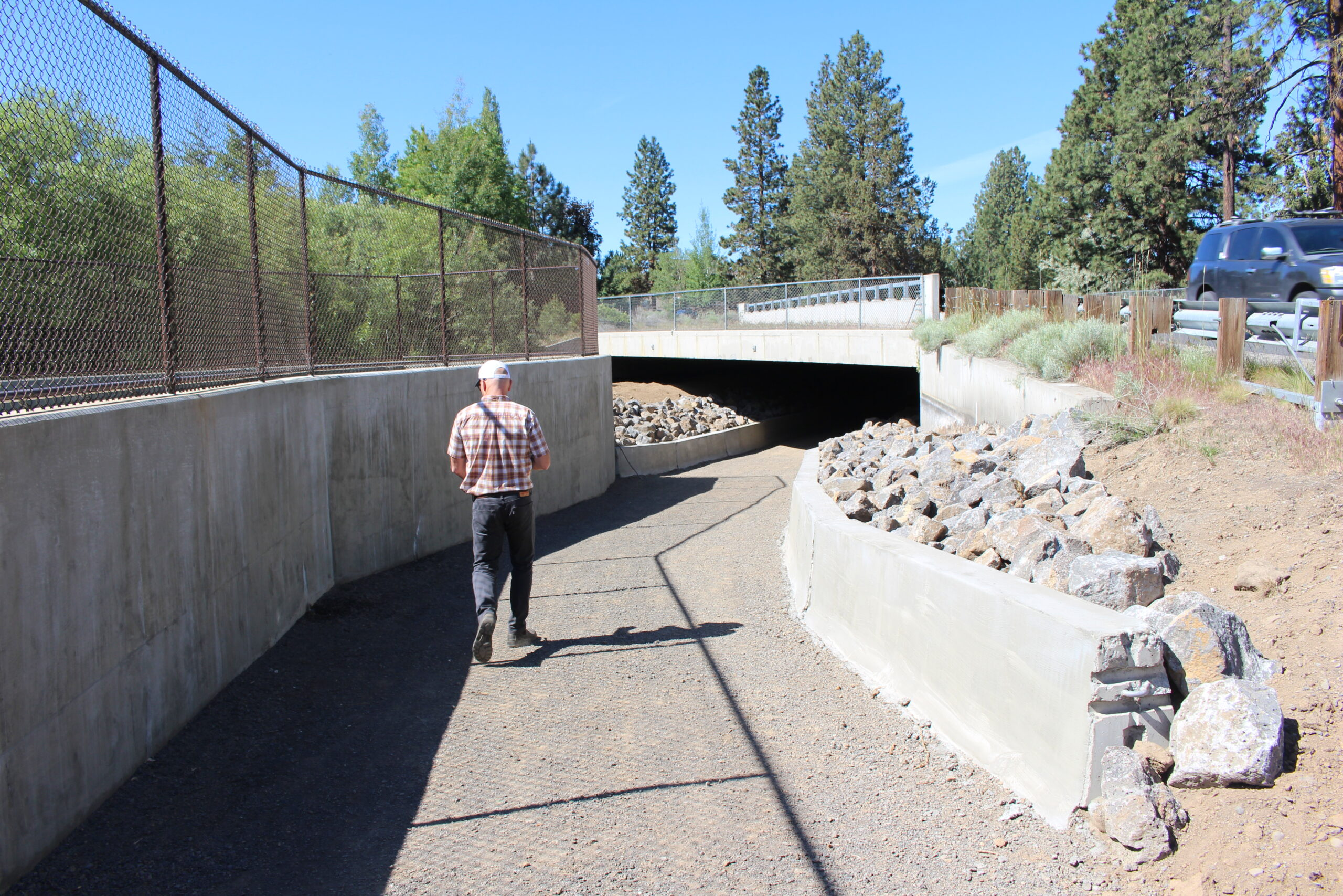 Trail undercrossing at Brookswood