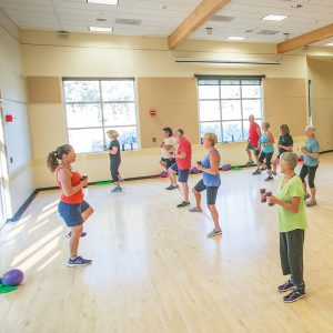 Image of a Functional Fitness class at the Bend Senior Center.