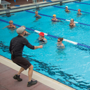 Image of a water fitness class held at Juniper Swim and Fitness Center in Bend, Oregon.