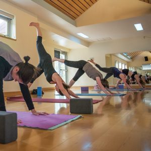 Image of Yoga and Pilates classes held at Bend Park and Recreation for Mind and Body calendar.