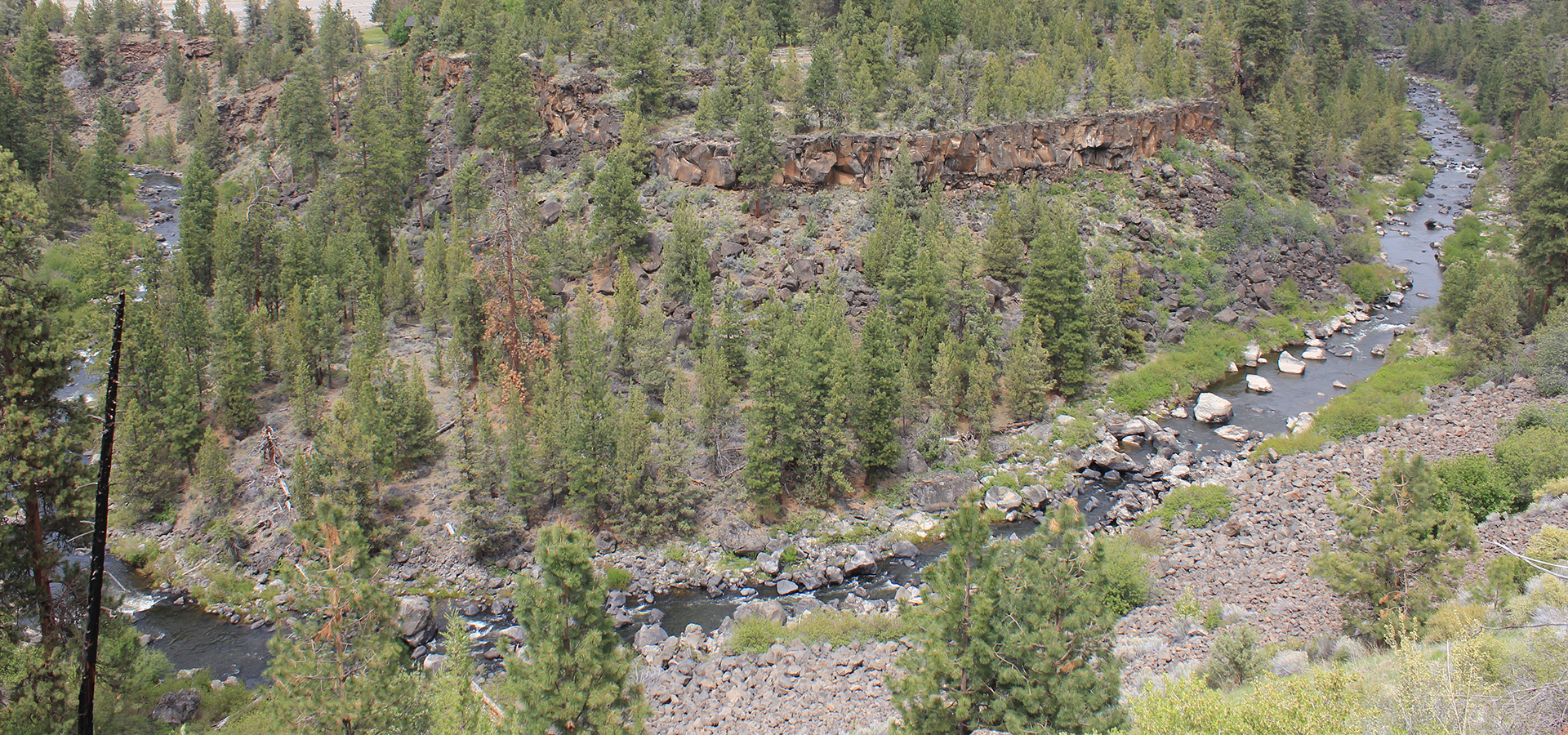 View of Deschutes River canyon