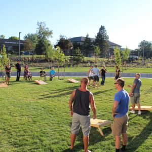 Image of an Adult Cornhole League at Bend Park and Recreation District's Pints 'n Play.