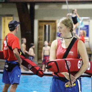 Image of lifeguards at Juniper Swim and Fitness Center.