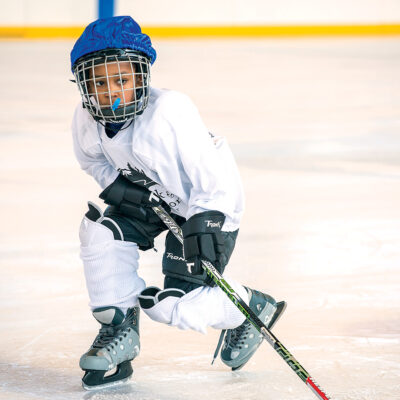Image of a Youth Hockey League practice.