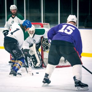 Image of an Adult Hockey League game.