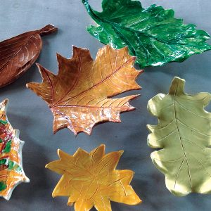 Image of finished ceramic pottery pieces from the Art Station.