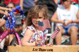 Image of the July 4th Pet Parade in Downtown Bend, Oregon.