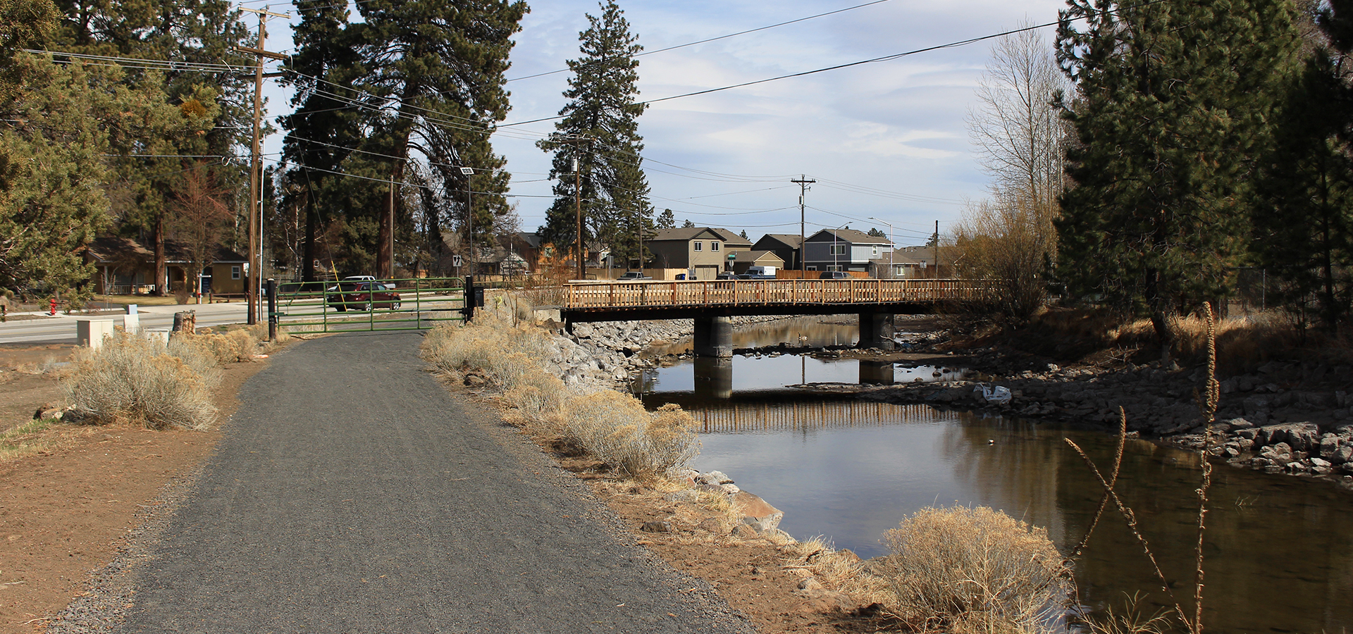 Image of the Central Oregon Historic Canal Trail in Bend, Oregon.
