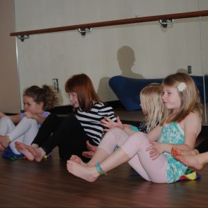 Image of children in a Fit Kids class at Juniper Swim and Fitness Center.