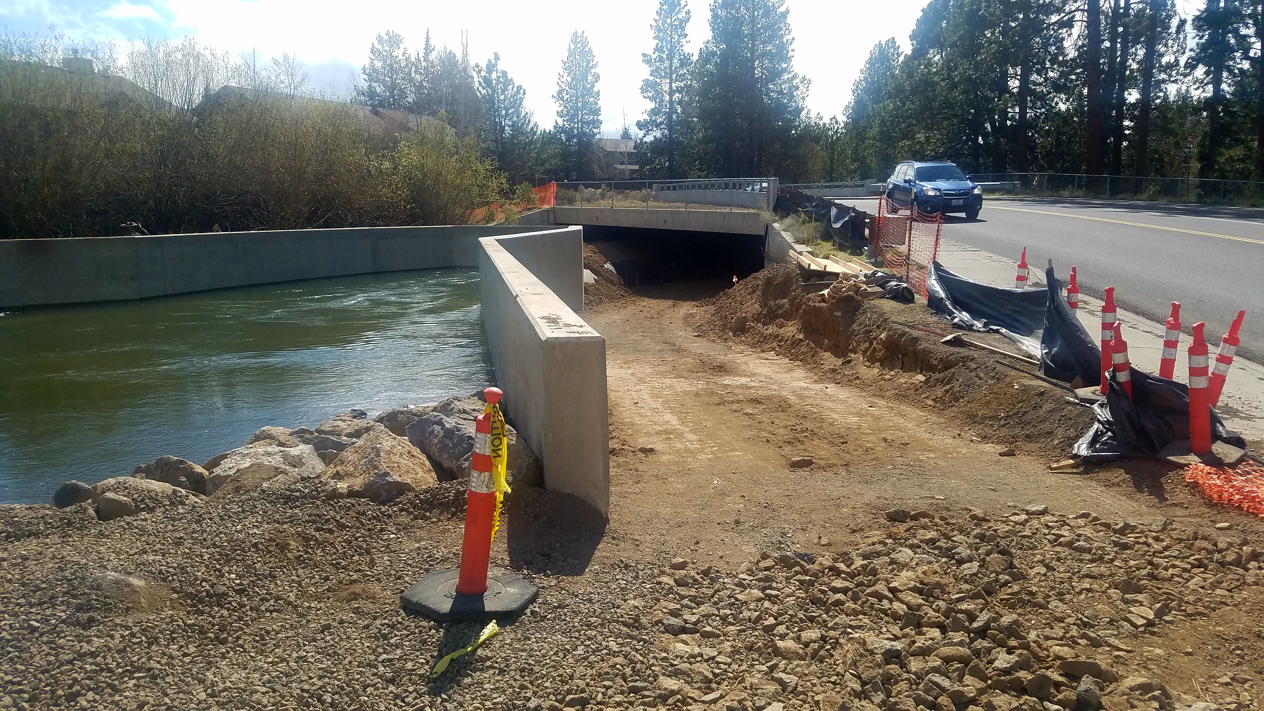 Image of the Haul Road underpass project under Brookswood.