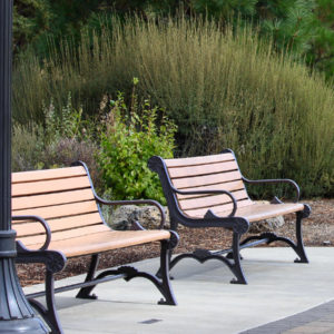 Image of adopted park benches in Riverbend Park.