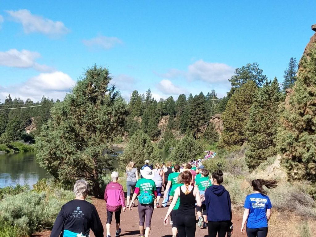 Image of a Run-Walk event through Farewell Bend.