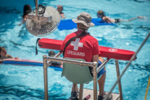 Image of a lifeguard on duty at JSFC.