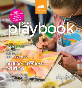 Image of the print cover of the 2018 Fall Playbook. Click to open PDF online.