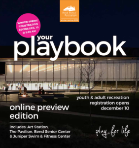 Image of the Bend Park and Recreation Playbook Online Preview for WInter-Spring 2019