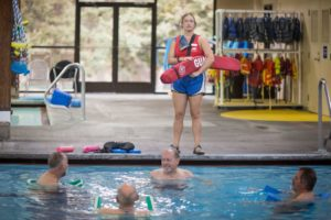 Image of lifeguard at Juniper Swim and Fitness Center for summer jobs ad.