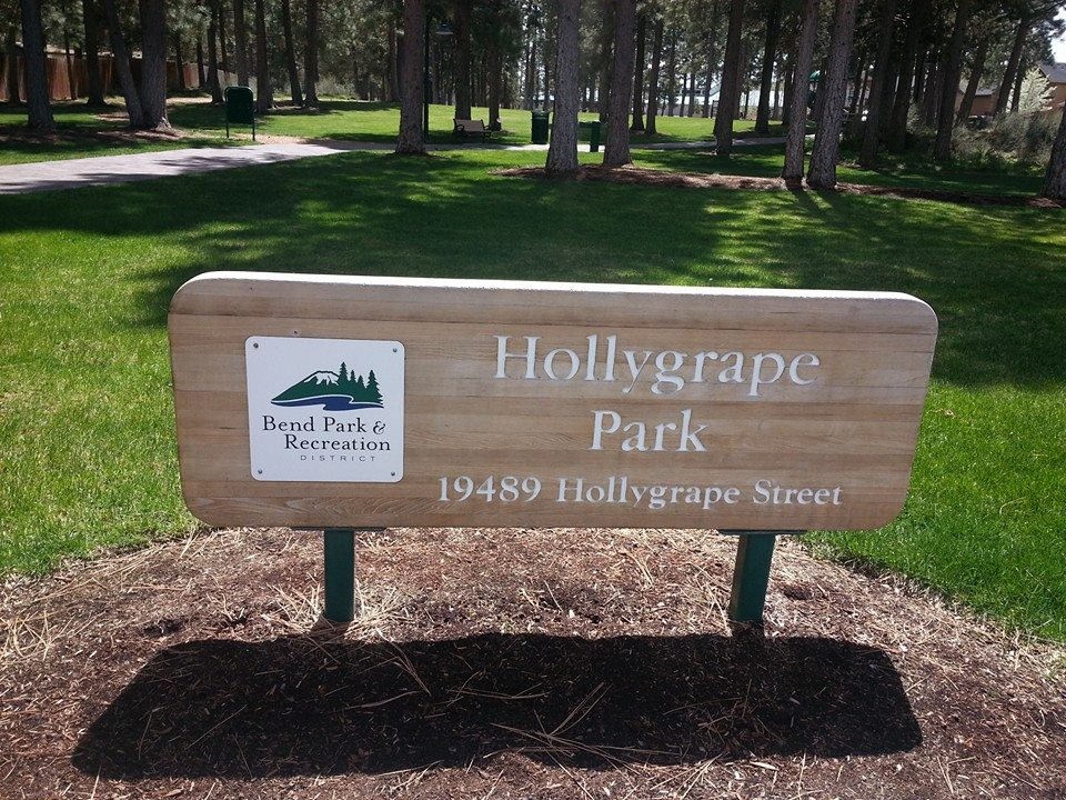 Image of the entrance sign reading