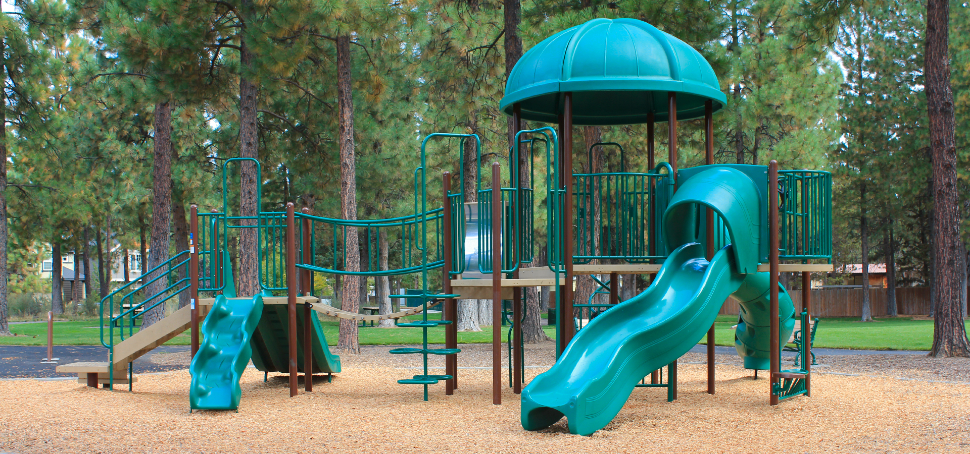 Image of play equipment at Hollygrape Park Playground.