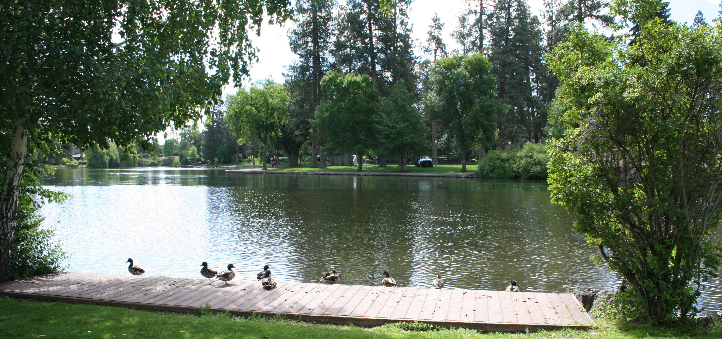 Image of river access at Pageant Park in Bend, Oreogn.