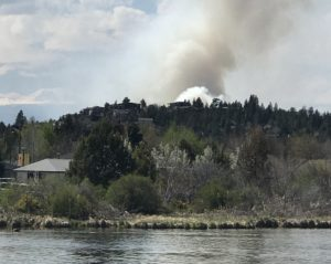 Image of a smoke plume in Bend, Oregon.