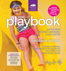 Playbook cover with girl on pool slide