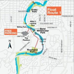 Float the River Route 1 Map